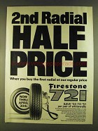 1980 Firestone 721 Tires Ad - 2nd Radial Half Price