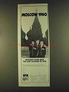 1980 U.S. Olympic Committee Ad - Moscow