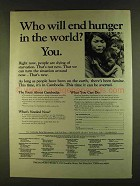 1980 The Hunger Project Ad - Who Will End Hunger? You