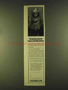 1980 Children, Inc. Ad - Tina Never Had Teddy Bear