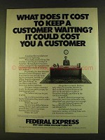 1980 Federal Express Ad - What Does It Cost to Keep?