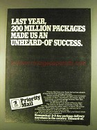 1980 U.S. Postal Service Priority Mail Ad - Packages