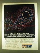 1980 U.S. Postal Service Express Mail Ad - Blood Sample