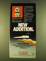 1980 Canon PalmPrinter Calculator Ad - New Addition