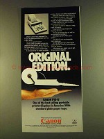 1980 Canon P10-D Calculator Ad - Original Edition