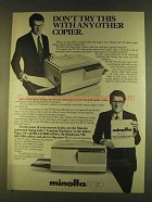 1980 Minolta EP 310 Copier Ad - Don't Try This