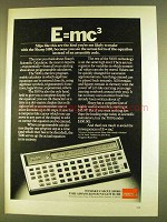 1980 Sharp 5100 Calculator Ad - E=mc3