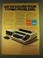 1980 Adler-Royal Electronic Text Editing Typewriter Ad