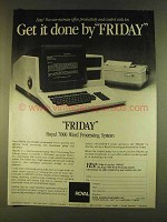 1980 Royal 7000 Word Processing System Ad - Get it Done