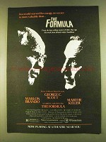 1980 The Formula Movie Ad - Brando, George C. Scott