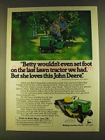 1980 John Deere 108 Lawn Tractor Ad - Betty Wouldn't