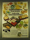 1980 Tupperware Storage Containers Ad - Our Promise