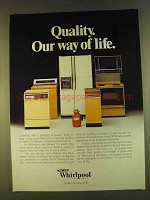 1980 Whirlpool Appliances Ad - Our Way Of Life