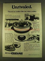1980 Rival Crock-Pot Ad - Unrivaled