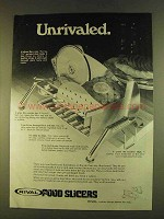 1980 Rival Food Slicers Ad - Unrivaled