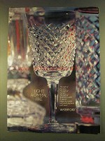 1980 Waterford Crystal Ad - Light a Crystal Fire