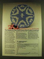 1980 Wedgwood Floral Girl Plate Ad - Prudent Investment