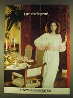 1980 Lenox China & Crystal Advertisement - Live the Legend