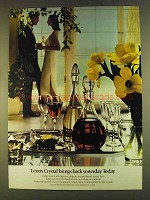 1980 Lenox Crystal Ad - Brings Back Yesterday Today