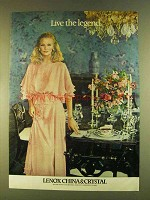 1980 Lenox China & Crystal Ad