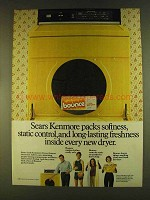 1980 Bounce Fabric Softener Ad - Sears Kenmore Packs