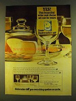 1980 Dishwasher All Detergent Ad - Wine And Cheese Set