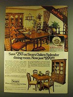 1980 Sears Oaken Splendor Dining Room Set Ad