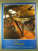 1980 Karges Dining Room Furniture Advertisement