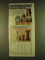 1980 Milk-Bone Dog Biscuits Ad - in Different Sizes