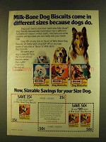 1980 Milk-Bone Dog Biscuits Ad - Different Sizes