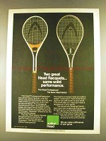 1980 AMF Head Professional & Vector Tennis Racquets Ad