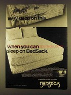 1980 Bedsack Bedclothing Ad - Why Sleep On This