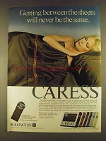 1980 Burlington Caress Sheets Ad - Between the Sheets