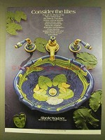 1980 Sherle Wagner Sink and Faucets Ad - The Lilies