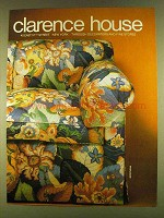 1980 Clarence House Nicotiana Upholstery Ad
