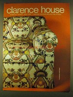 1980 Clarence House Chinoiserie Fantastique Fabric Ad