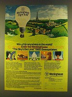 1980 Westinghouse Light Bulbs Ad - Win a Trip