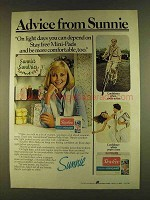 1980 Stayfree Mini-Pads Ad - Advice from Sunnie