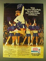 1980 Stayfree Mini-Pads Ad - Shows Confidence