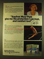 1980 Stayfree Maxi-Pads Ad - Cathy Rigby