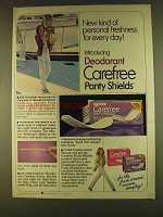 1980 Carefree Panty Shields Ad - Personal Freshness