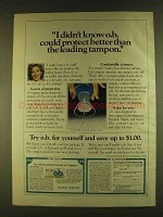 1980 Johnson & Johnson O.B. Tampons Ad - Protect Better