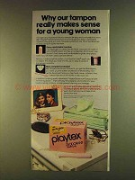 1980 Playtex Deodorant Tampons Ad - For Young Woman