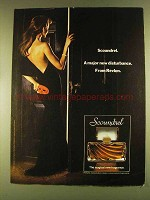 1980 Revlon Scoundrel Perfume Ad - New Disturbance