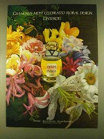 1980 Givenchy L'Interdit Perfume Ad - Floral Design