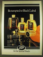 1980 Boots Yardley Black Label After Shave and Talc Ad