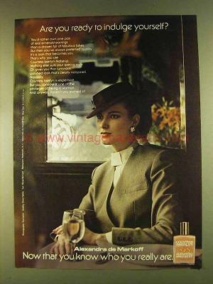 1980 Alexandra De Markoff Countess Isserlyn Makeup Ad