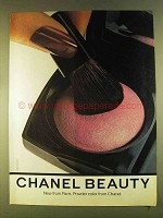 1980 Chanel Makeup Ad - Powder Color