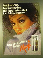 1980 Max Factor Maxi-Lash Mascara Ad - Long Lashes