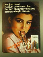 1980 Max Factor Maxi Color Eye Lustre Pencils Ad